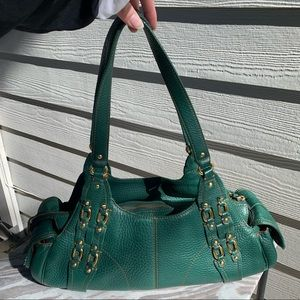 Cole Haan Bag Purse Dark Green Leather